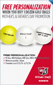 Free Personalization On Select Wilson Golf Balls When You Buy 1 Dozen