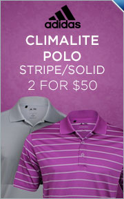 Select Adidas Climalite & ClimaCool Stripe Shirts - 2 for $50.00