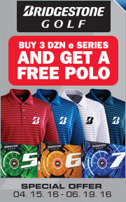 Buy 3 Dozen Bridgestone e Series Golf Balls & Get A Free High Performance Polo