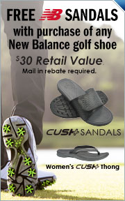 Free New Balance Sandals With Purchase Of Any Pair Of New Balance Golf Shoes