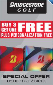 Buy 3 Dozen Personalized Bridgestone B330 Golf Balls & Get 1 Free