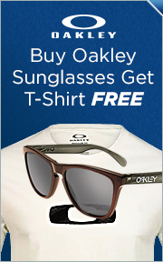 Buy Select Oakley Sunglasses, Get Free Oakley Steeze Tee