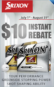 $10 Instant Rebate on Srixon Z-Star and Z-Star XV Golf Balls