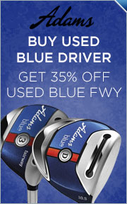 Buy Used Adams Blue Driver & Get Blue Fairway 35% Off