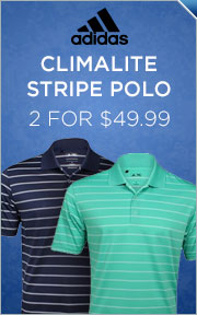 Select Adidas Climalite & ClimaCool Stripe Shirts - 2 for $49.99