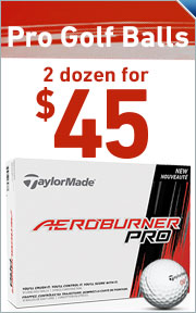TaylorMade AeroBurner Pro Golf Balls - 2 Dozen For $45