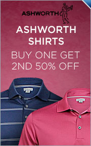 Ashworth Shirts -- Buy 1 Get 2nd 50% Off
