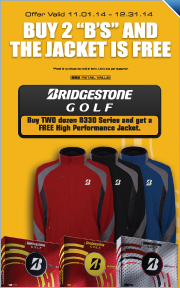 "Buy Two Bridgestone ""B"" Series Golf Balls and Get a Free Jacket"
