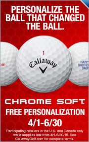 Free Personalization on Callaway Chrome Soft Golf Balls