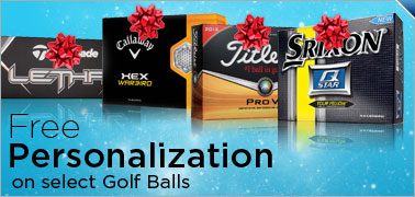 Free Personalization on Select Golf Balls
