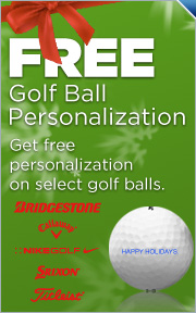 Free Personalization on Select Golf Ball Brands