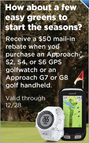 $50 Mail-In Rebate on Select Garmin Approach GPS