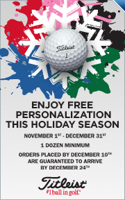 Free Personalization on Titleist Golf Balls 11/1 - 12/31