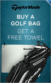 Buy Select TaylorMade Golf Bag & Get Motel Towel FREE!