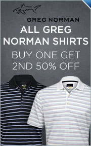 Greg Norman Shirts -- Buy 1 Get 2nd 50% Off