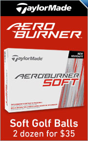 TaylorMade AeroBurner Soft Golf Balls - 2 Dozen For $35