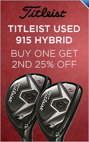 Used Titleist 915 Hybrids - Buy 1 Get 2nd 25% Off