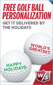 Free Personalization On Select Wilson Golf Balls